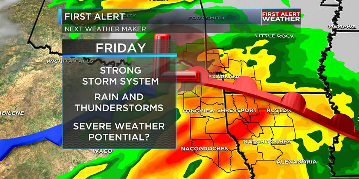 Severe weather possible Friday night