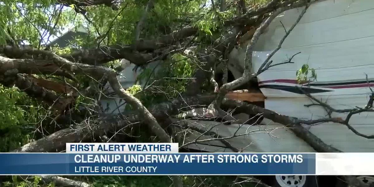 Cleanup efforts underway after strong storms move through Little River Co., Ark.