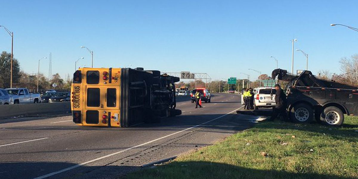 Nine students injured in New Orleans school bus crash; driver did not have permit