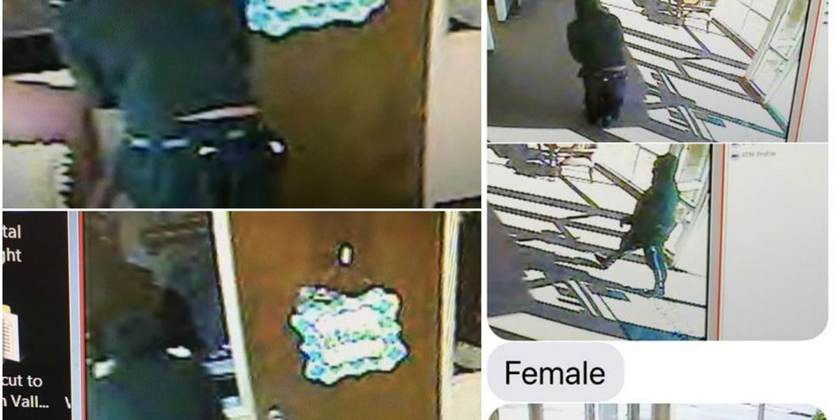 Cotton Valley police chief shares surveillance camera images of BFCU robbery