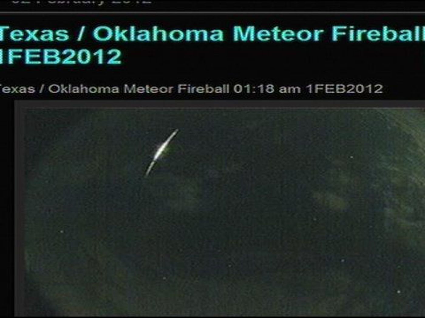 FAA: Fireball in Texas sky likely a meteor