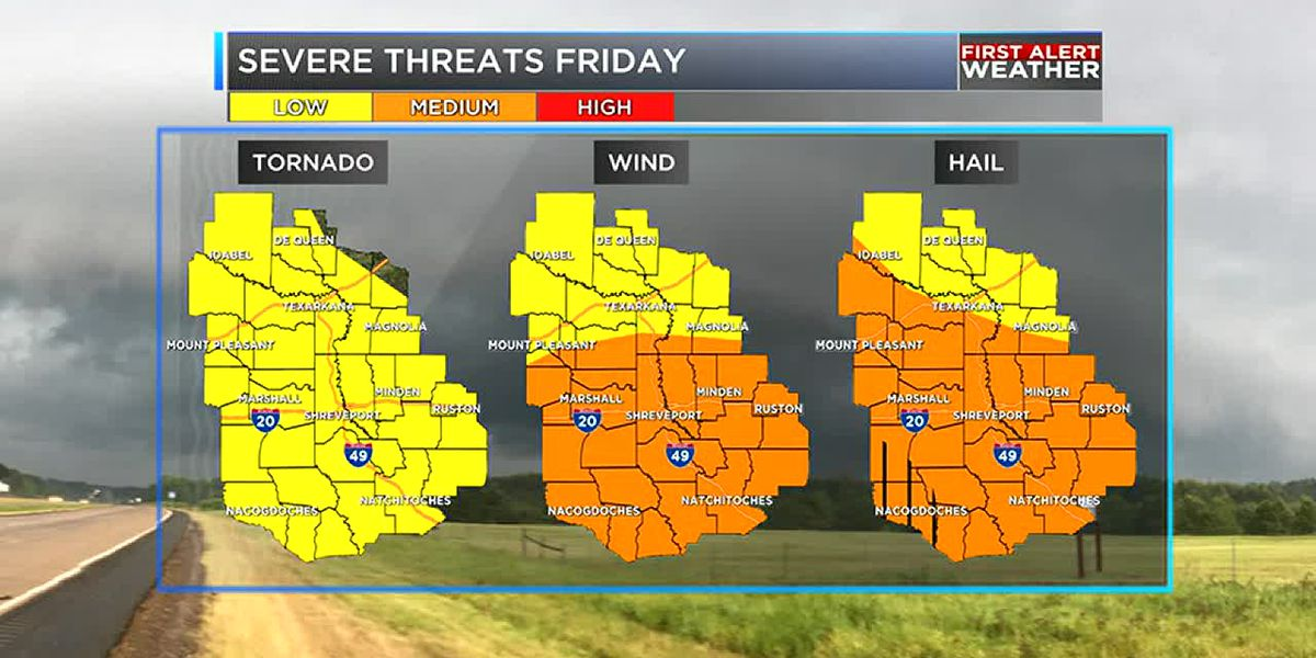 Heavy rain and thunderstorms Friday