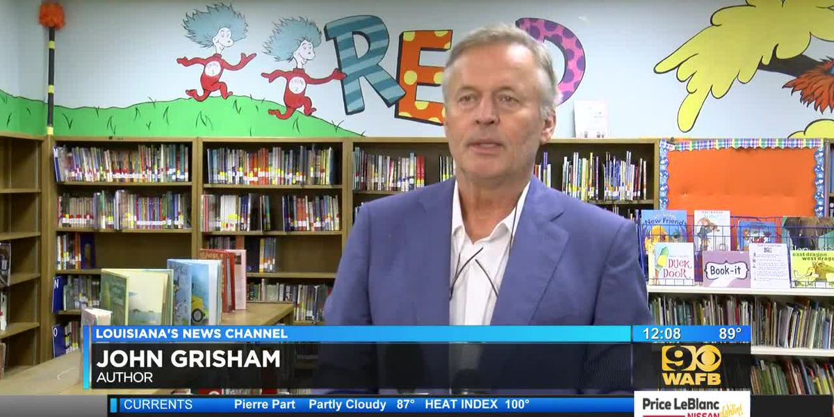 Author John Grisham joins First Lady Donna Edwards in pushing for breakfast in schools
