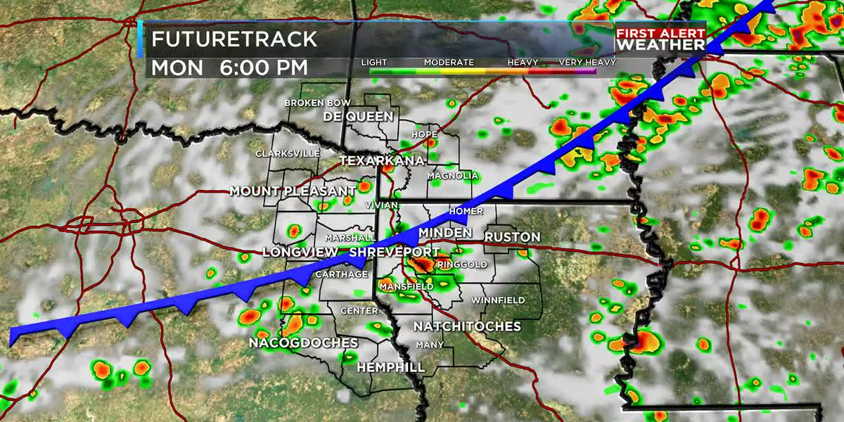 First Alert: Cold front brings in a round of scattered showers and storms
