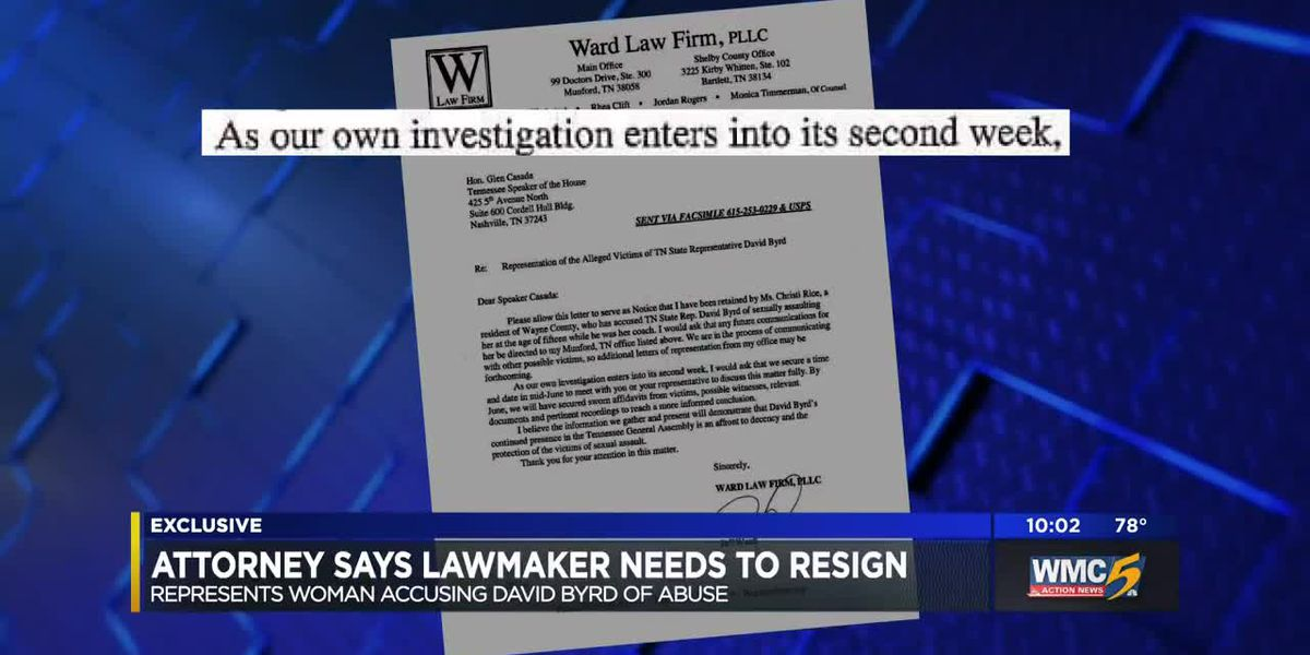 Attorney calls for the removal or resignation of state representative amid sexual misconduct allegations