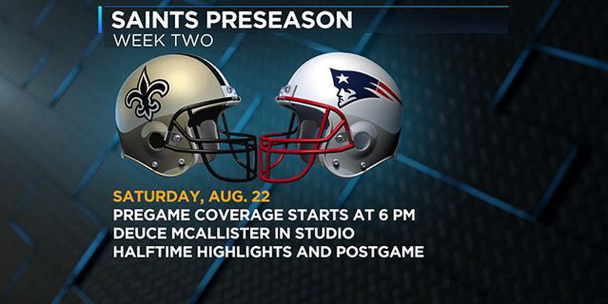 Programming note: Saints vs. Patriots on KSLA