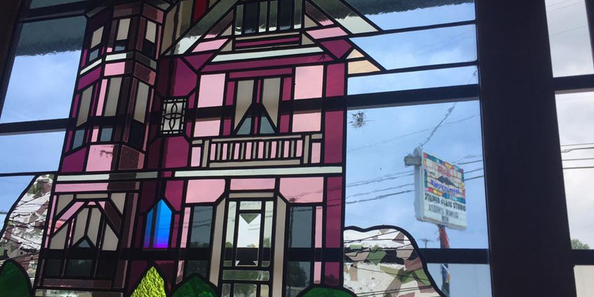 Stained glass shop windows, door shattered by vandals