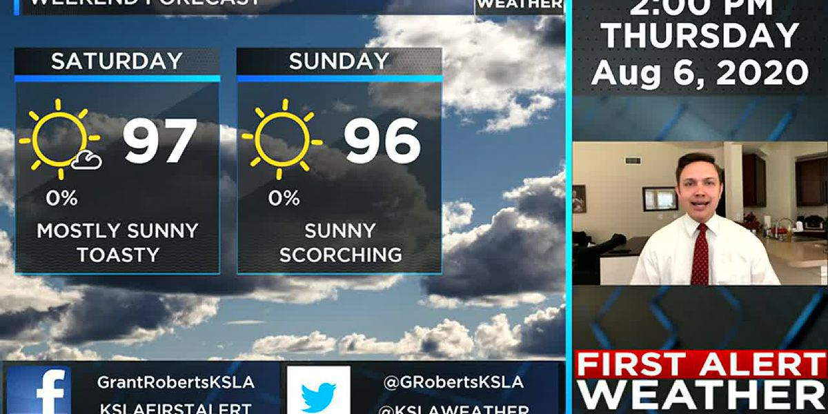 Rain possible Friday; hot & dry this weekend