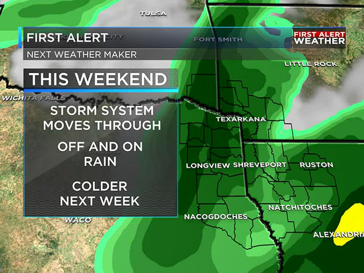 Rain returns for the weekend