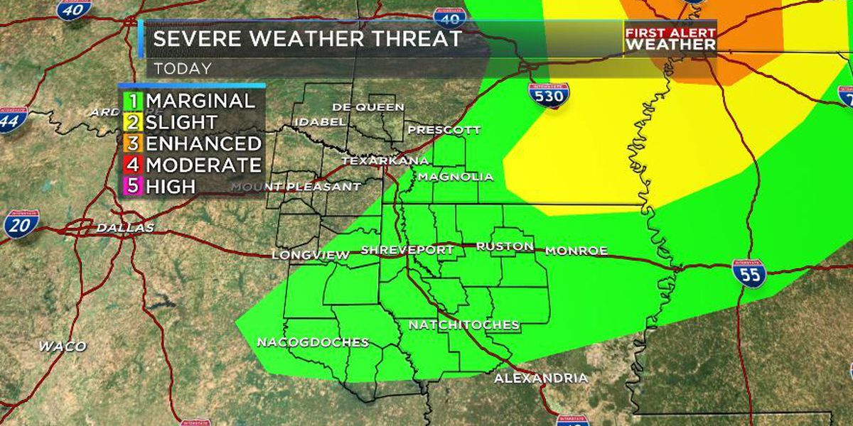 FIRST ALERT: Isolated strong storms possible Monday afternoon