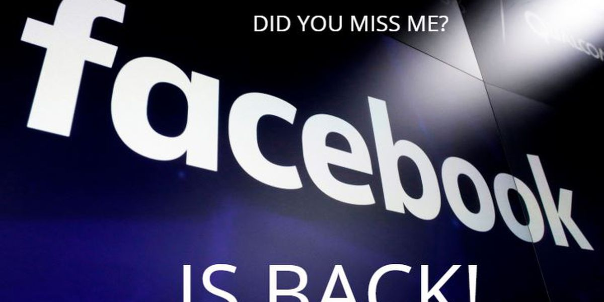 Facebook recovers from sizable outage