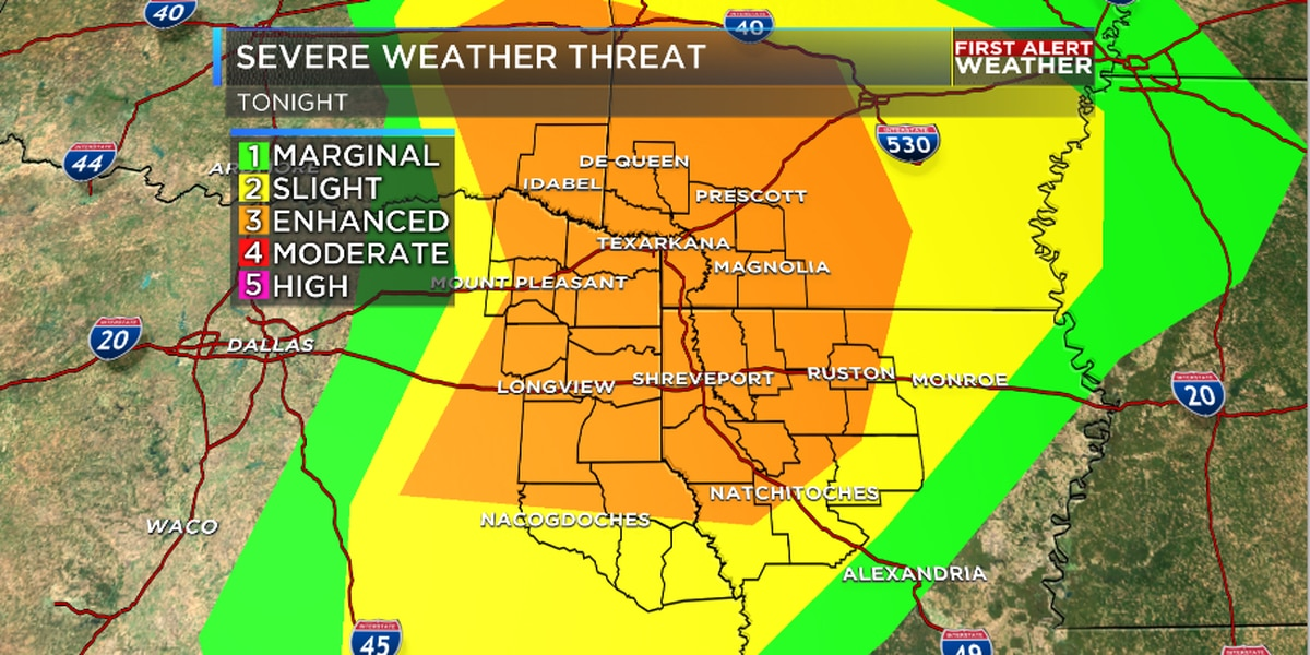 Another possible round of severe weather this evening