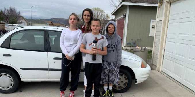 Teenage son buys car for single mother