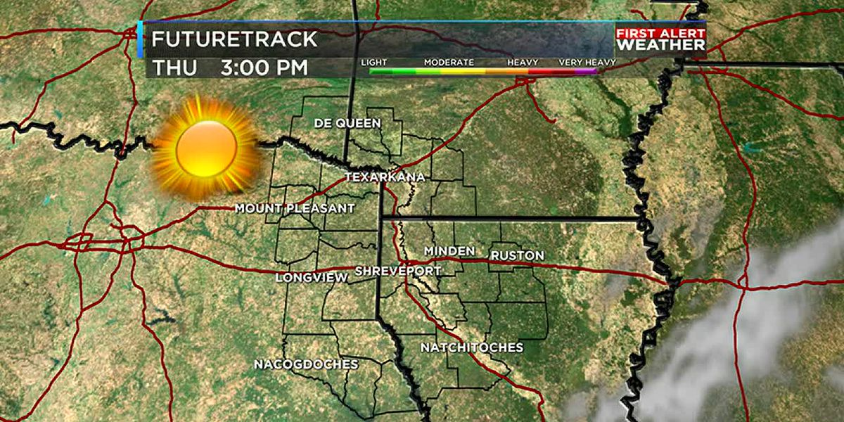 Rain ends tonight with sunshine to finish the week