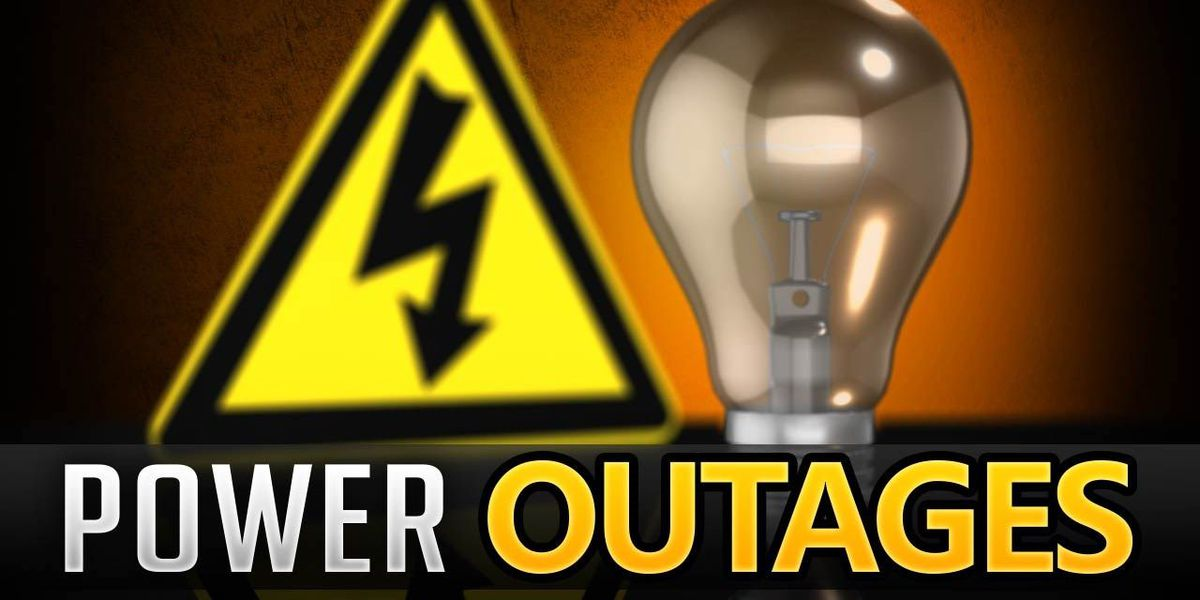 Thousands without power on Monday morning