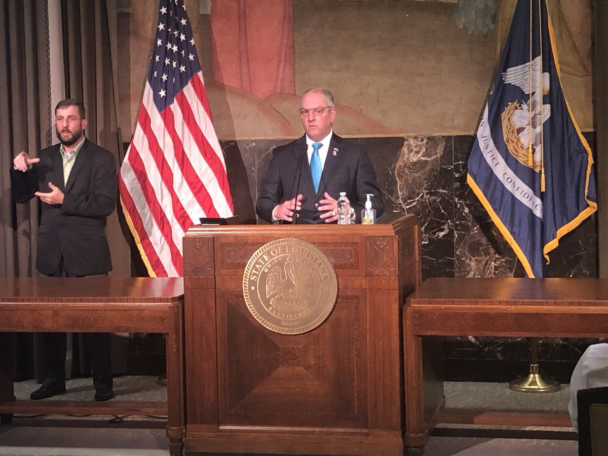 Gov. Edwards announces increase in capacity for high school stadiums