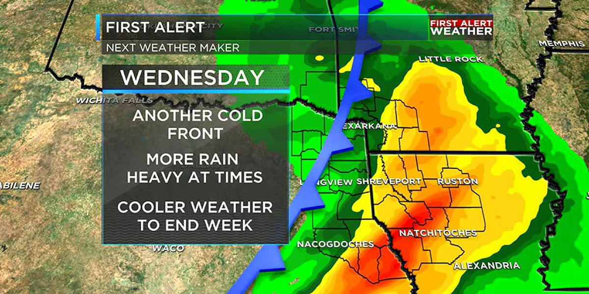 Sunny and warm to start the week, rain arrives by Wednesday