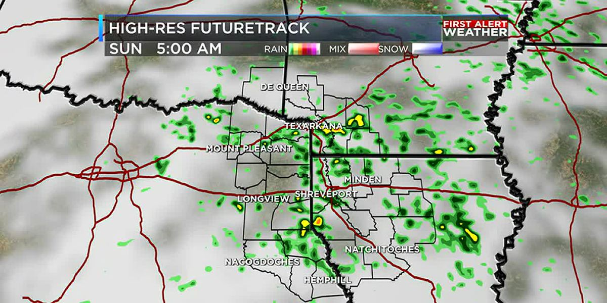 Rain and a few strong storms possible Monday morning