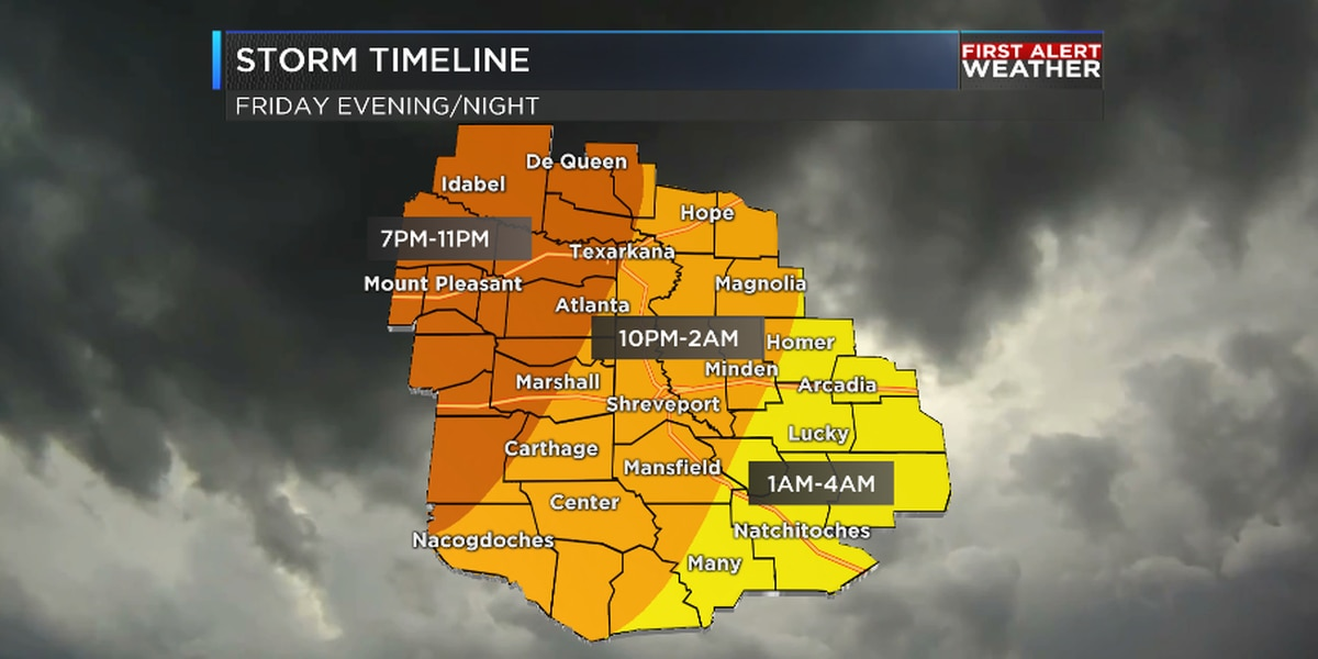 First Alert Weather Day for Friday evening and night