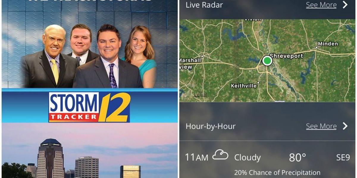 Download the KSLA StormTracker 12 Weather App