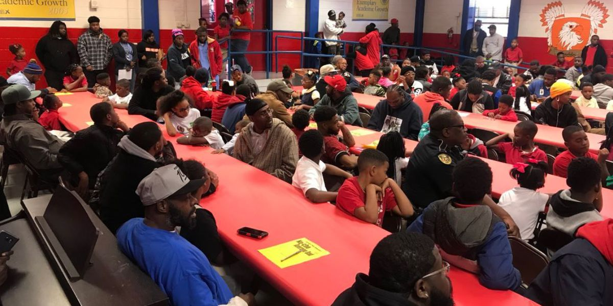 Cherokee Park Elementary host Na-cho Average Dad event for fathers