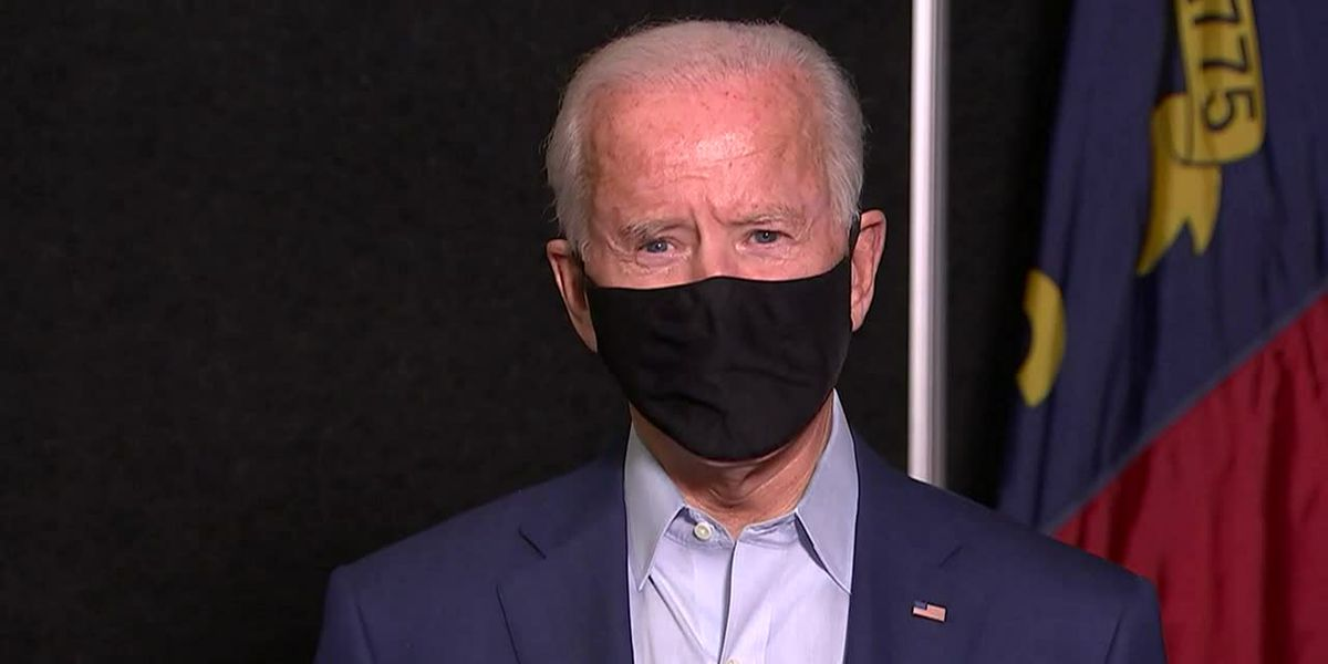 Democratic presidential nominee Joe Biden warned protesters to keep demonstrations peaceful