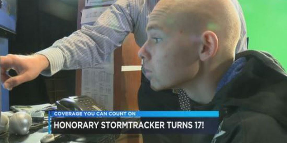 Honorary StormTracker celebrates 17th birthday with visit to studio