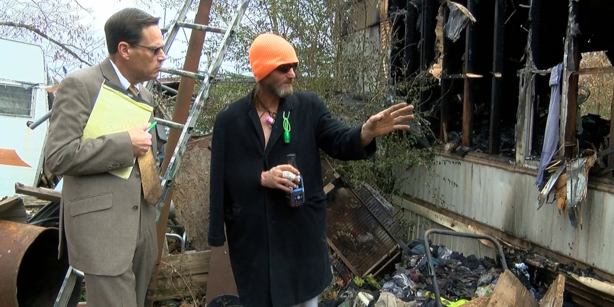 Husband tried rescuing wife from deadly Benton house fire