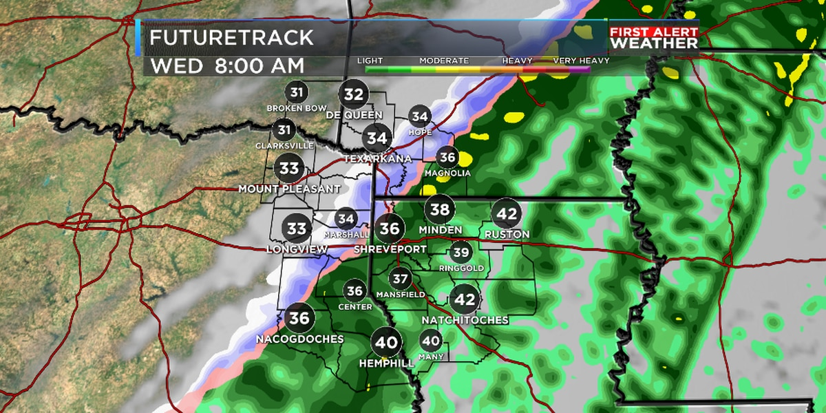FIRST ALERT: Cold front brings in a round of rain, a cold blast and maybe a few snowflakes