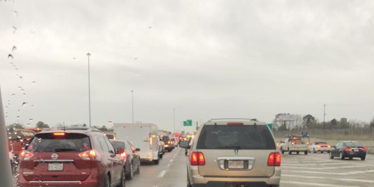 Accident causing delays on southbound I-49; left lane blocked