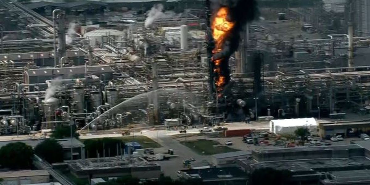 Fire reported at ExxonMobil Baytown Complex in Texas