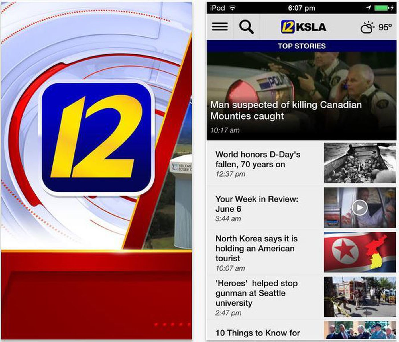 Free KSLA News 12 mobile apps